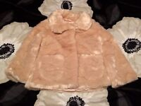 M and S girls fur coat. Age 2-3. Excellent condition.