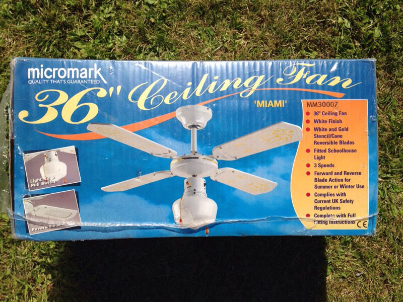 Micromark Ceiling Fan Light Brand New Still Sealed