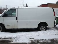 A 2006 white Chevrolet with a refrigerated