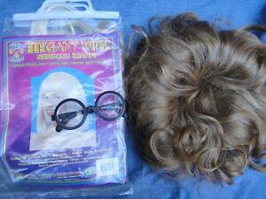 LikeNew 2 Hair Wigs + Glasses Halloween Costume Accessories