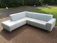 Italian White Leather Suite