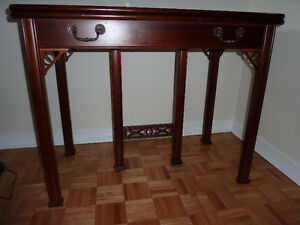 Gate Leg Dining Table 4 Chairs 3 Leaves Mahogany