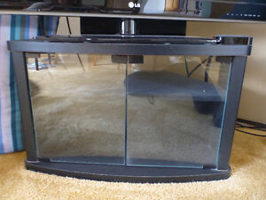 TV stand, black with glass front