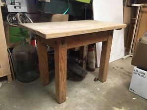 Antique Butchers Table