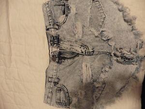 Short fashion tendance été large jeans