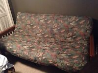 FUTON - Great Condition, Thick Double Mattress