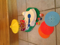 Fisher Price Little People Carousel with records Vintage