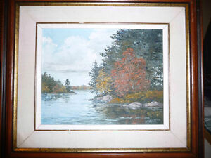 "Ruth Gibson ""Stewart Lake"" Oil Painting 1959"