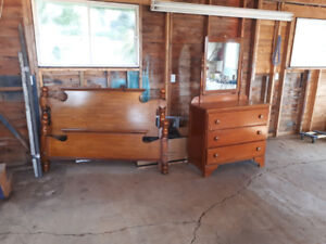 Headboard and footboard and dresser