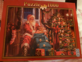 1000 Piece Jigsaw Puzzle - Santas grotto design