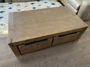 Solid wood four drawer coffee table