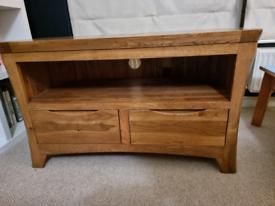 Oak furniture land ORRICK Rustic Solid Oak Corner TV Unit