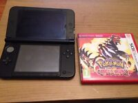 Nintendo 3DS XL with Pokemon Omega ruby and Super Mario Bros (pre loaded into console)