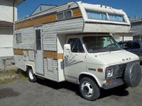 1977 GMC 21ft. motor home, with 10,000 miles on rebuilt motor.