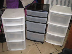 $45 for All 3 Plastic drawer storage Units in good condition