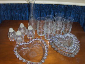 Batch of Hughes Cornflower Glass For Sale