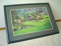Framed Golf Print (3 ft 5 inches wide x 2 ft 6.25 inches tall)