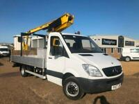 2007 MERCEDES SPRINTER 515 2.1 CDI 5 TONNE CHERRY PICKER ACCESS PLATFORM CRANE