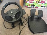 T80 racing wheel and pedals