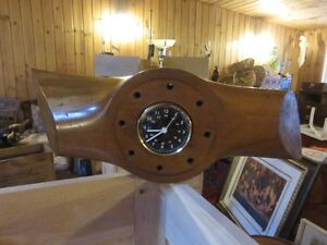 1 ANTIQUE WW2 AIRCRAFT PROPELLER DESK CLOCK ORIGINAL,