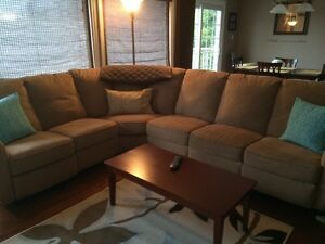 Beige sectional couch for sale