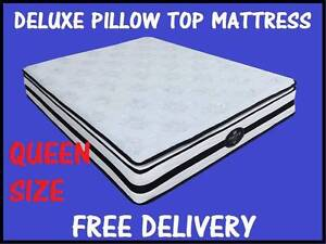 QUEEN MATTRESS Deluxe Pillow Top Mattress BRAND NEW FREE DELIVERY New Farm Brisbane North East Preview