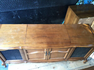 Antique cabinet with working record player