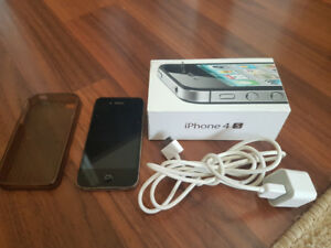 IPhone 4S 32 GB with charger, box & casing (Locked with Fido)