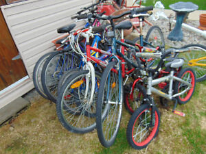 I have a few bikes all size you have to come by to see do not a