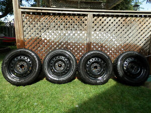 205-55R 16 Winter Tires, mounted on steel rims Cambridge Kitchener Area image 1