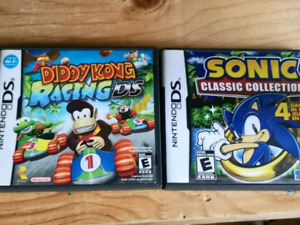 CLASSIC DS GAMES DIDDY KONG RACING SONIC COLLECTION