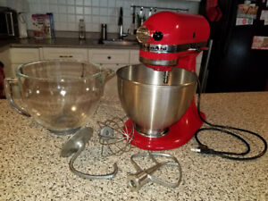 Kitchenaid Stand Mixer - red and barely used