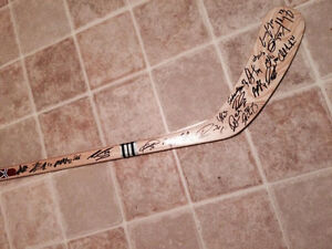 TEAM SIGNED ICECAPS STICK FOR CHARITY St. John's Newfoundland image 3