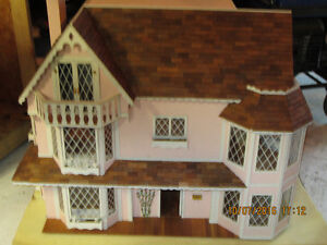 Victorian Style Doll House and Furniture