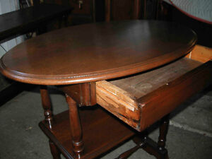 antique walnut hall or side table with drawer Oakville / Halton Region Toronto (GTA) image 6