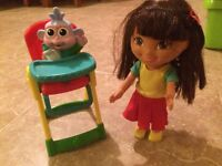 Dora and baby boots