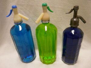 3 Vintage Soda Bottles