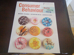 Marketing text book - Consumer Behaviour (7th Canadian edition)