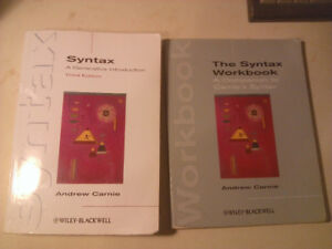 Syntax: A Generative Introduction 3rd Ed. Textbook and Workbook
