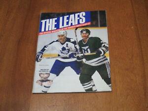 1986 Toronto Maple Leaf hockey program