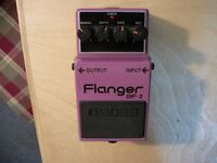 BOSS BF-2 FLANGER w/BOX & BOOKLETS Made In Japan