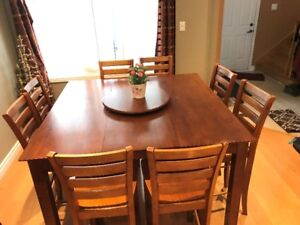 bar high dining table with 8 chairs