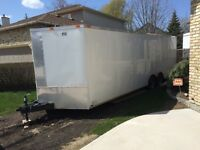 2014 24' White enclosed car hauler