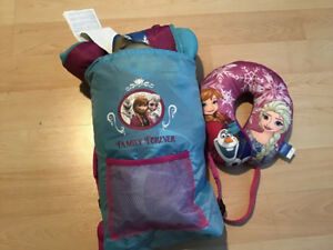 Frozen sleeping bag (with next pillow and bag)