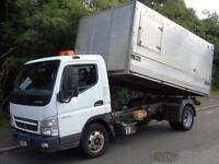 2008 08 MITSUBISHI FUSO CANTER 3.0 6C15 144 BHP 6.5T DAY CAB HIGH SIDE TIPPER TR