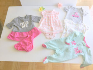 Baby Girl Great Clothes (0-3 m.) (6 pc. $ 1.80 ea.) Dresses, One