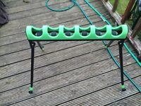 Fishing pole roller