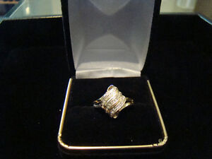10k Gold Diamond Fancy Coctail Ring **SALE 25% OFF**