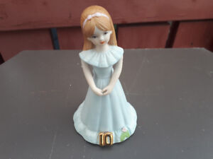 Growing up Girl 10th Birthday Figure