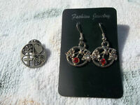 Earring & Pin Set